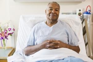 senior hospital bed